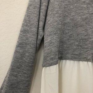 Motherhood Maternity Tops - Motherhood Maternity Babydoll Sweatshirt - Large
